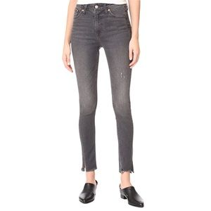 LEVI'S 721 Grey Altered High Rise Skinny Jeans 25